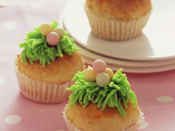 Muffins mit Ostergarnitur