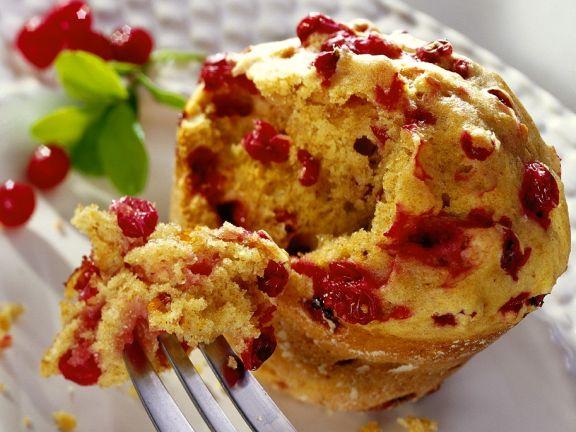Muffins mit Preiselbeeren