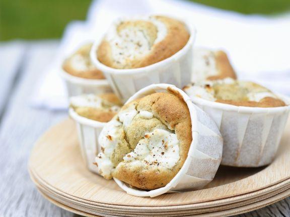 Muffins mit Ziegenkäse