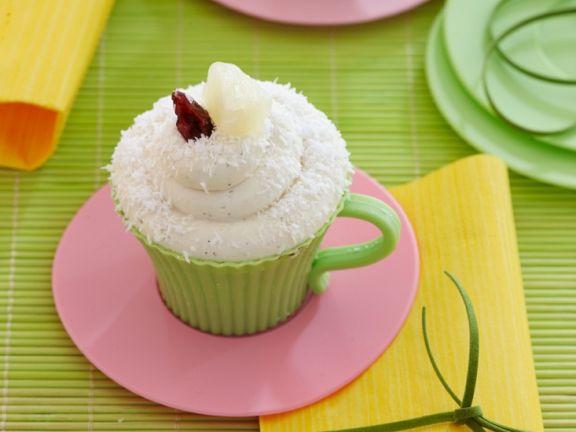 Mug Cake mit Ananas und Kokos
