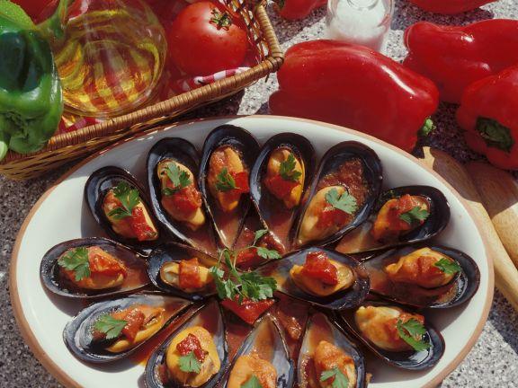 Muscheln mit Tomaten