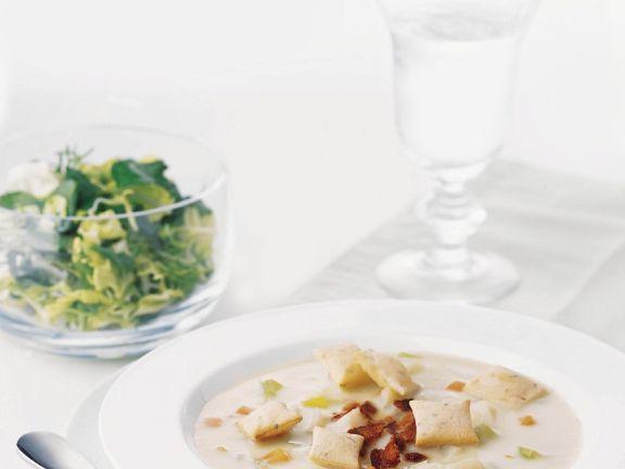 Muschelsuppe mit Specl