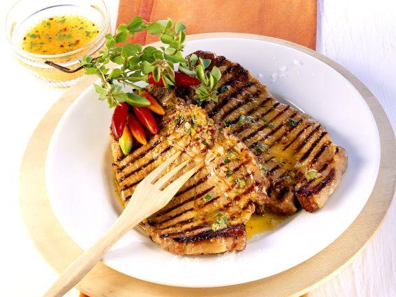 Nackenkoteletts vom Grill