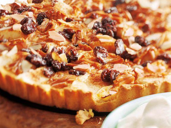 Norwegischer Apfelkuchen mit Pudding