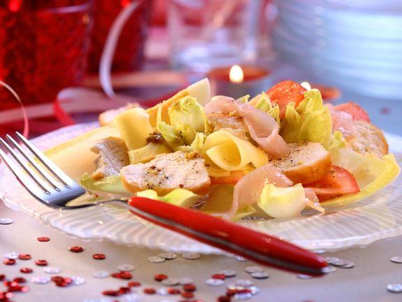 Nudel-Hähnchensalat