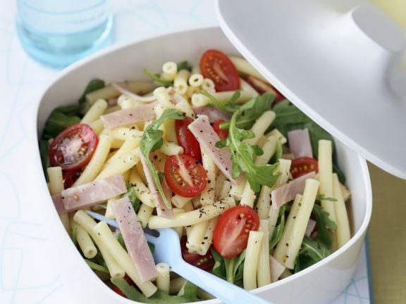 nudel schinken salat mit rucola und tomaten rezept eat smarter. Black Bedroom Furniture Sets. Home Design Ideas