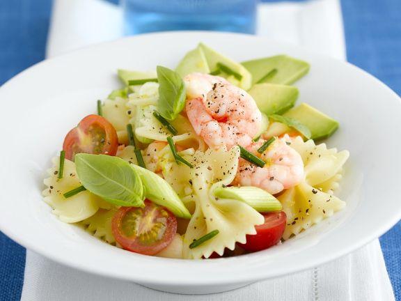 Nudel-Shrimpssalat