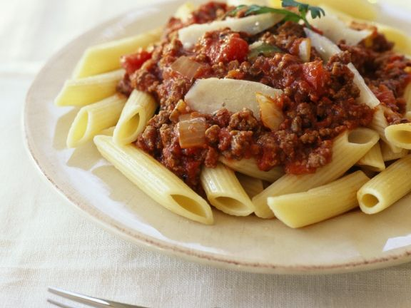 Nudeln mit Bolognesesauce