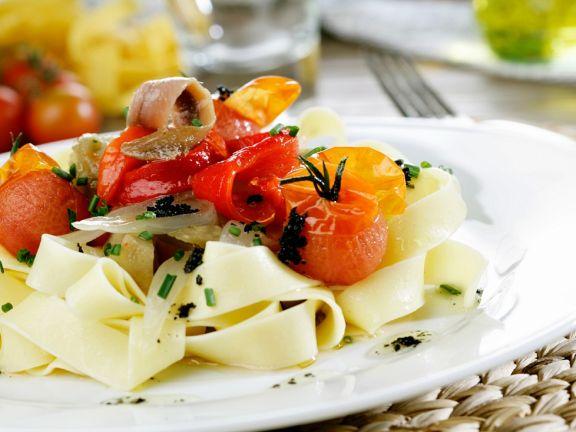 Nudeln mit mediterranem Gemüse