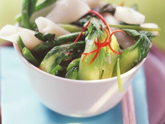 Nudeln mit Thaigemüse