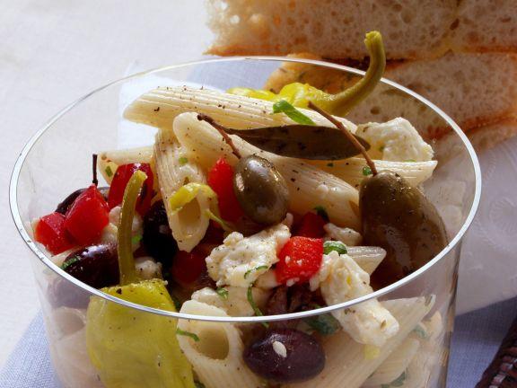 Nudelsalat griechische Art