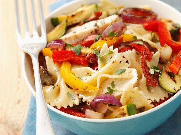 Nudelsalat mit Grillgemüse