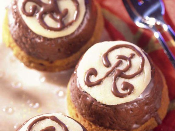 Nugat-Marzipan-Muffins