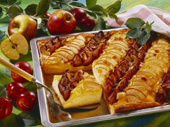 Obstkuchen mit Vanillecreme