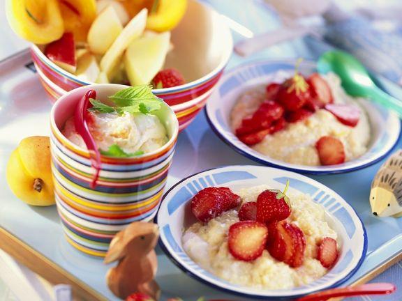 Obstnachspeisen für Kinder
