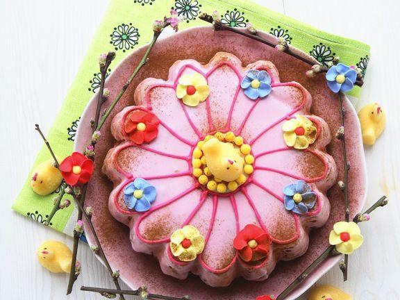 Österliche Blumentorte