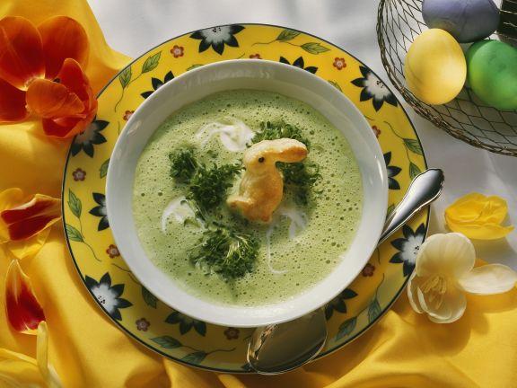 Österliche Kressesuppe mit Häschen