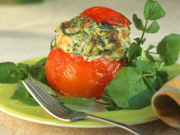 Ofengebackene, gefüllte Tomaten