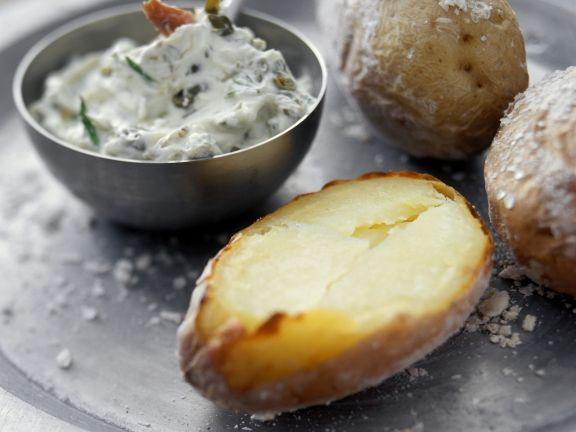 Ofenkartoffeln mit Kräuterbutter