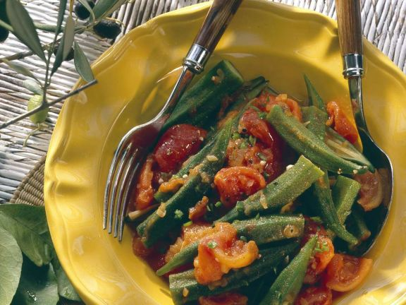 Okra-Tomatengemüse