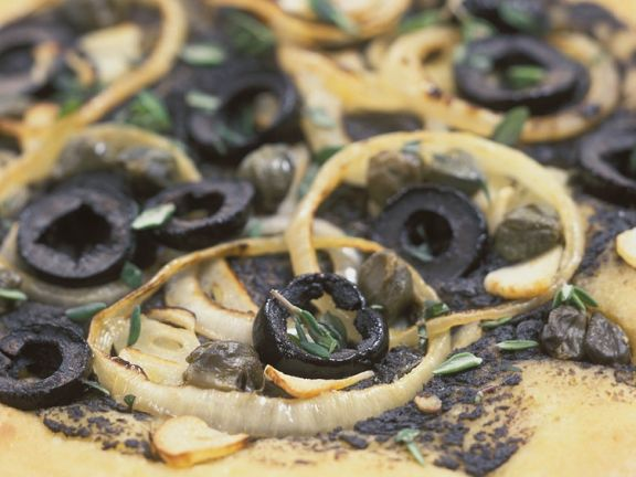 Oliven-Hefefladen