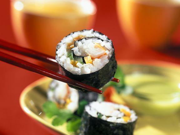 Omelett-Gurken-Surimi-Sushi
