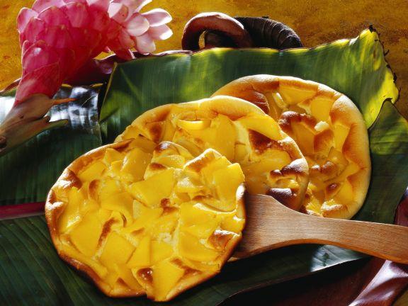 Omelett mit Mango