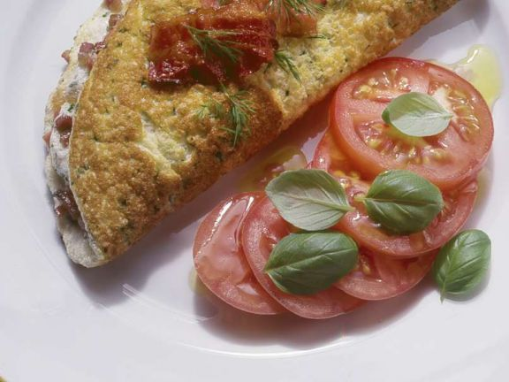Omelett mit Speck und Kräutern