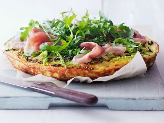 omelette mit gem se und schinken rezept eat smarter. Black Bedroom Furniture Sets. Home Design Ideas