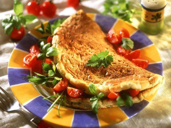 Omelette mit Kräutern und Tomaten
