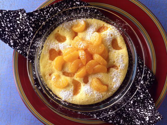 Omelette mit Mandarinen