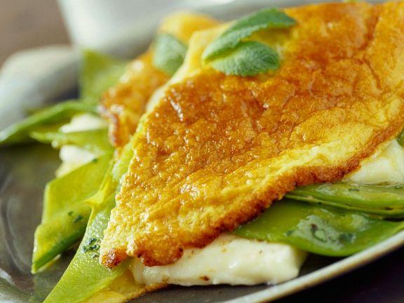 Omelettes mit Grillkäse