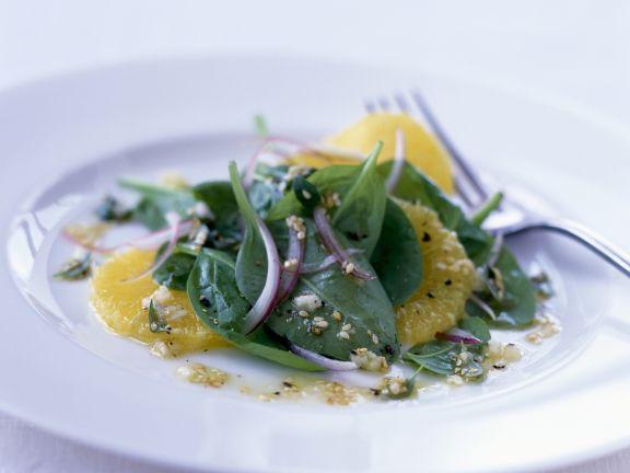 Orangen-Blattspinat-Salat