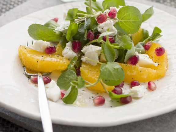 Orangen-Brunnenkresse-Salat