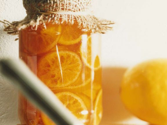 Orangen in Sirup