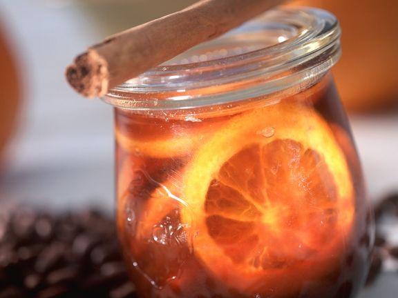 Orangengelee mit Kaffee