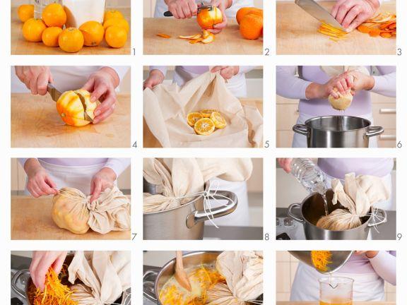 Orangenkonfitüre herstellen
