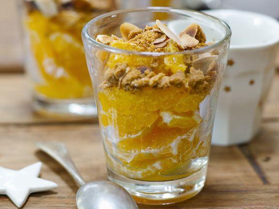 Orangensalat mit Mandeln