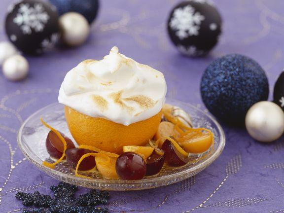 Orangensoufflee an Weihnachten