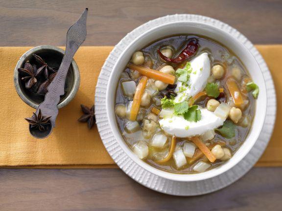 Orientalische Gemüsesuppe