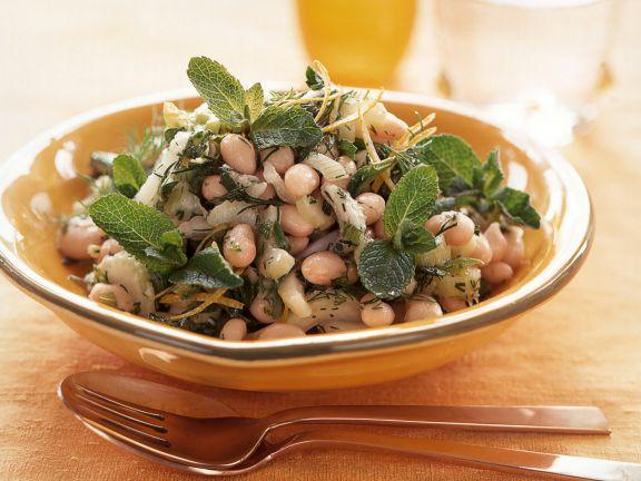 Orientalischer Bohnensalat mit Minze