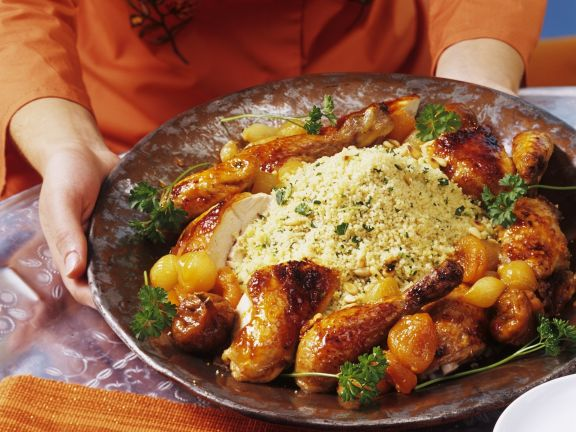 Orientalisches Hähnchen mit Couscous
