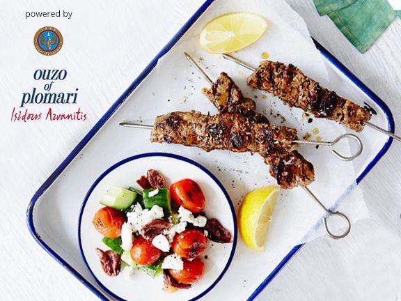 Griechische Küche mit Ouzo Plomari
