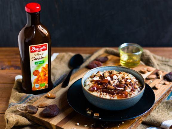 Overnight-Dinkel-Porridge mit Flohsamenschalen