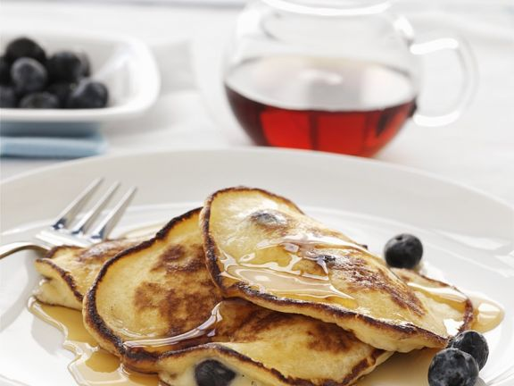 Pancakes mit Heidelbeeren