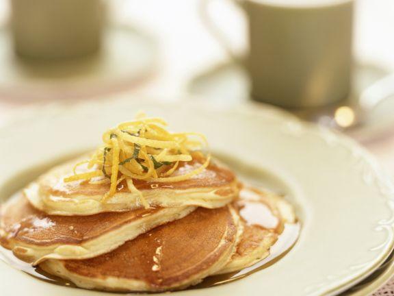 Pancakes mit Zitronenzesten