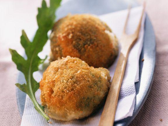 Panierte Mozzarella-Bällchen