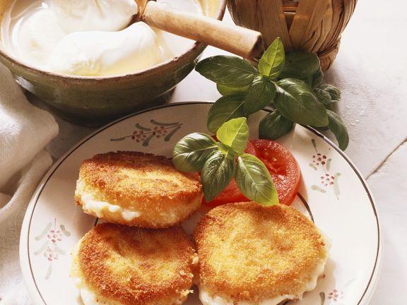 Panierter Mozzarella
