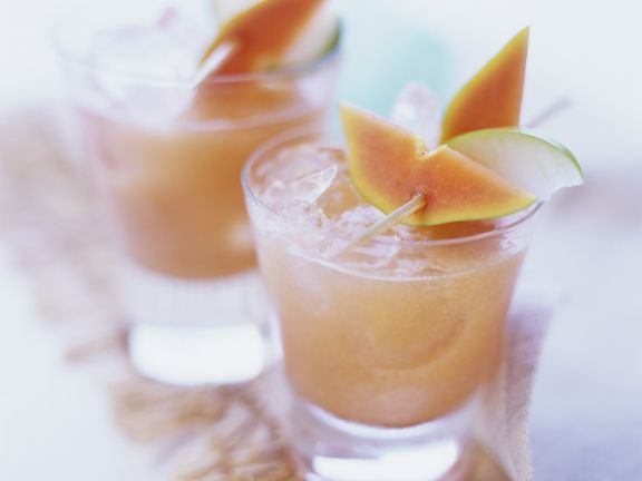 Papaya-Apfel-Drink