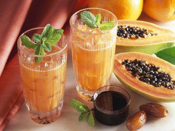 Papaya-Orangensaft